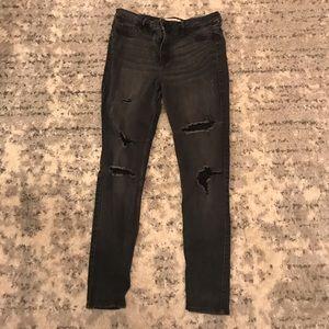 Hollister Black High Rise Super Skinny Jeans